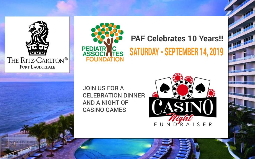 Pediatric Associates Foundation – 10 Year Celebration Dinner & Casino Night